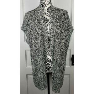 Eileen Fisher Linen Cotton Blend Sweater Knit Vest